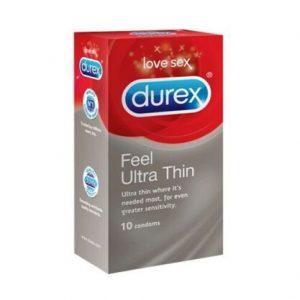 Durex Feel Ultra Thin Condoms 10's