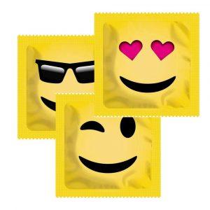 Exs Smile Face Emoji Dotted Condoms