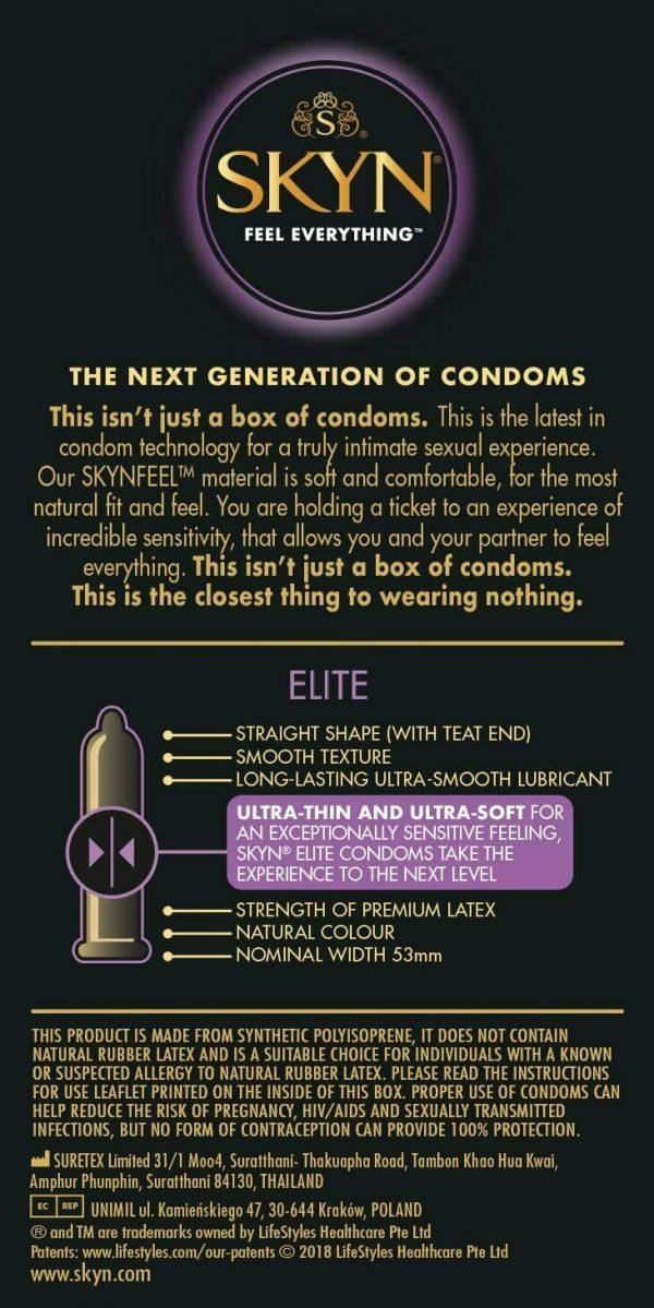 Skyn Elite Non Latex Condoms