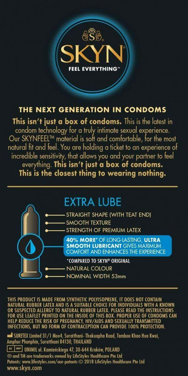 Skyn Extra Lube Non Latex Condoms